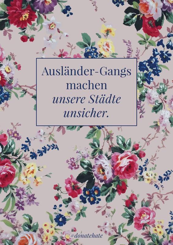 #donatehate Print (DIN A5) Ausländer-Gangs